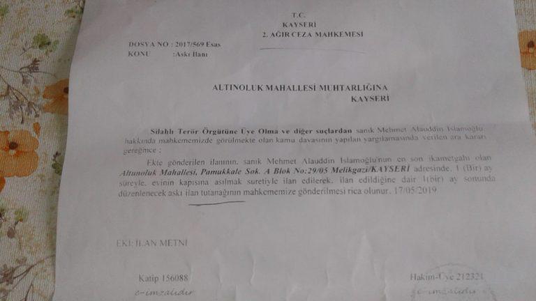 Kayseri – Mehmet Alauddin Islamoglu 1