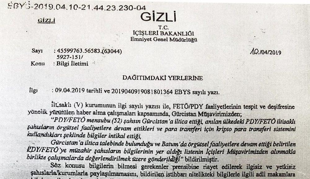 Gurcistan A Iltica Edenlerin Bilgileri Turkiye Ye Sizdi