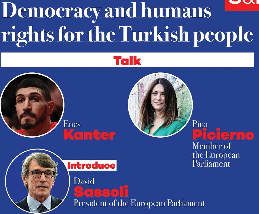 Enes Kanter bu akşam Avrupa Parlamentosu'nda Türkiye'deki hukuksuzlukları anlatacak 2