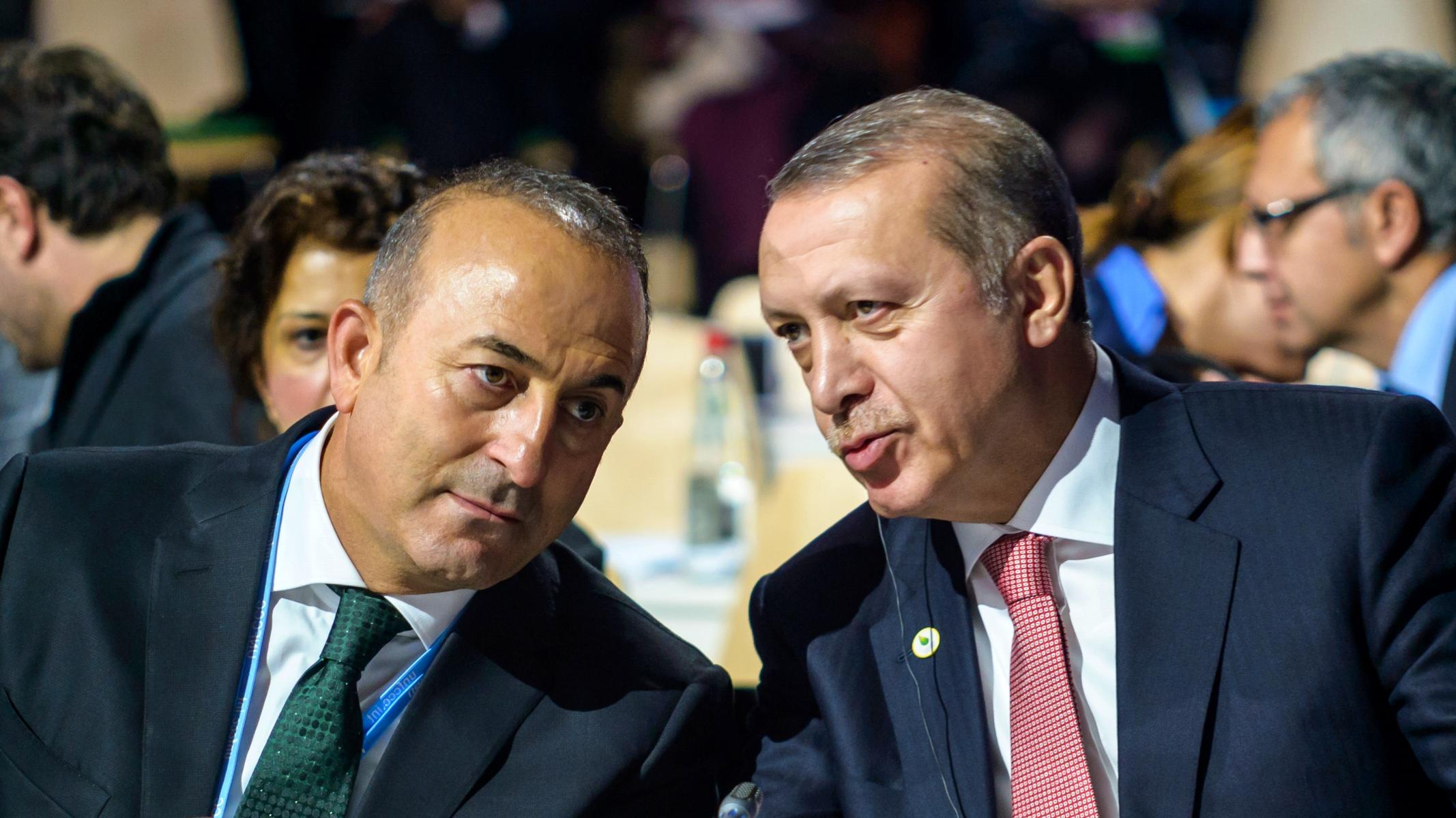 Mevlüt Çavuşoğlu ve Recep Tayyip Erdoğan