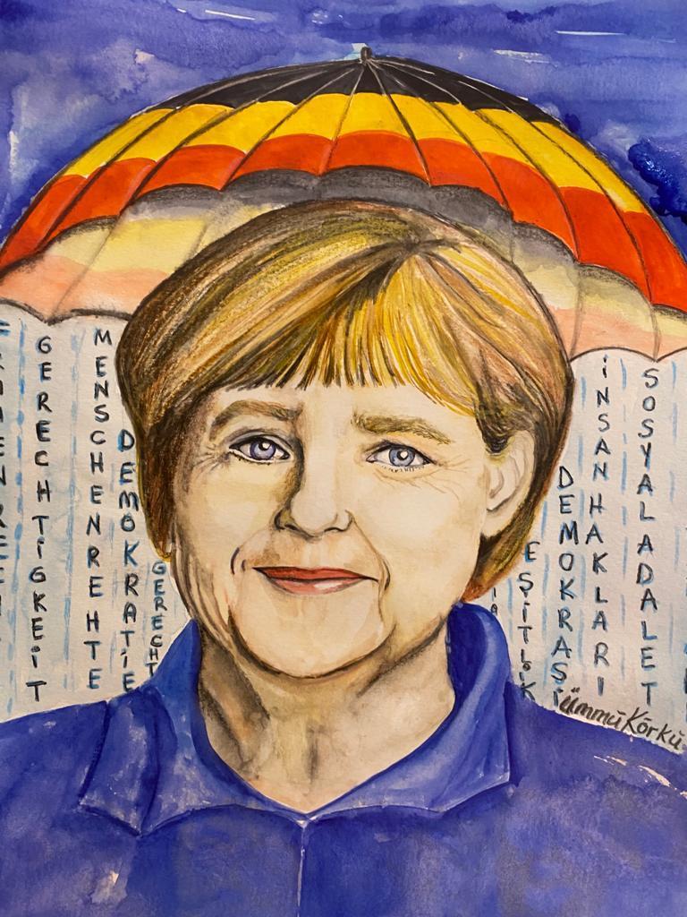 Merkel'den sürgün resim öğretmeni Ümmü Körkü'ye özel teşekkür 3