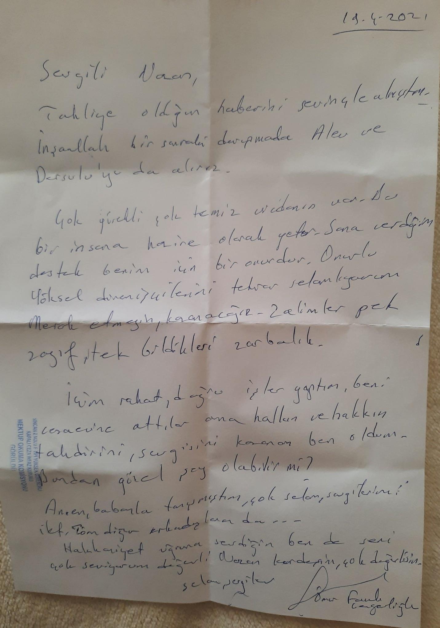 Gergerlioğlu'ndan mektup var 2